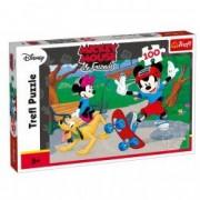 Puzzle Trefl Mickey Mouse si prietenii skate 100 piese