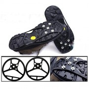 ELECTROPRIME® Ice Snow Anti Slip Spikes Grips Grippers Cleats for Shoes Boots Overshoe