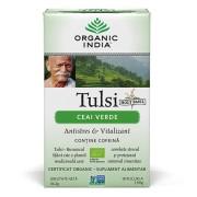Ceai Verde Tulsi (Busuioc Sfant) Antistres Natural & Vitalizant - 18 plicuri