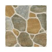 Gresie portelanata Geostone, imitatie piatra, maro 33x33 cm