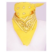 Boerenzakdoek / bandana in citroengeel
