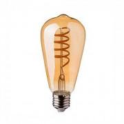 VTAC V-TAC VT-2144 4W Lampadina led E27 ST64 filamento spirale vetro ambra bianco caldo 2200K dimmable - SKU 7327