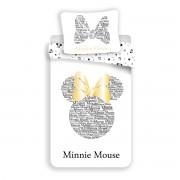 Lenjerie bumbac Jerry Fabrics Minnie Gold, 140 x 200 cm, 70 x 90 cm