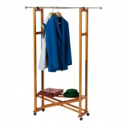 1 Houten kledingrek ELIOS inklapbaar met RVS kledingroede