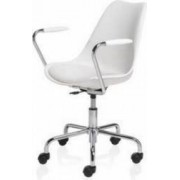 Scaun Office CUBETRADE FL20405 Model de Lux, Alb - Metal