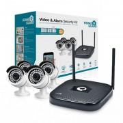 Homeguard HGNVK48904-1TB Kit CCTV Wifi 960P 4 Canais + 4 Câmaras + 5 Alarmes + Disco Rígido 1TB