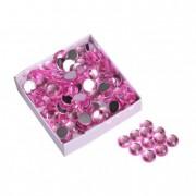 Kristály kő acryl 10mm rózsaszín (100 db/szett)
