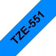 Tape 24mm TZe-551 Svart på Blå