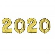 Shoppartners Grote gouden 2020 ballonnen voor Oud en Nieuw