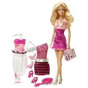 Mattel V8558 Barbie Doll And Fashions Barbie Gift Set