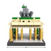 Micro Brickland Brandenburg Gate Landmark Located In Germany