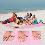 Arena Free Mat Ligero Plegable De Picnic Al Aire Libre Camping Colchon Cojin Beach Mat, Tamaño: 2x2m (rosa)