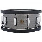 "Gretsch Drums Full Range 14"""" x 6,5"""" Hammered Black Steel Snare Caja"""