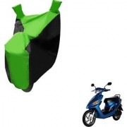 Intenzo Premium Green Black Two Wheeler Cover for Yo Bike Yo Spark