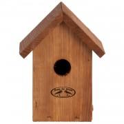 Merkloos Nestkastje / vogelhuisje winterkoning houten dakje 19.8 cm