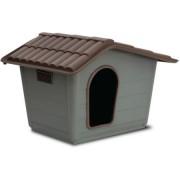 Cusca Sprint Eco mini pentru caini , plastic, maro si gri, 40x30x41 cm Pet Star