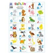 Plansa - Alfabetul animalelor in limba engleza/***
