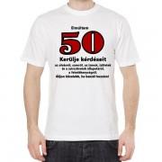 50 éves - Tréfás póló