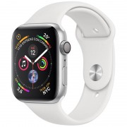 Apple Watch Series 4 GPS 40mm Alumínio Prateado com Bracelete Desportiva Branca