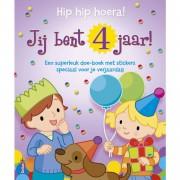 Kleur en stickerboek- Hip hip hiera! Jij bent 4 jaar!