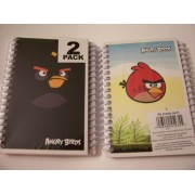 Angry Birds 2 Pack Spiral Notebooks By Mead (Black Bird, Red Bird Flying)