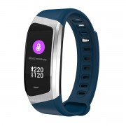 E18 0.96 inch IPS Colorful Display Smart Sleeping Heart Rate Monitor Bluetooth 4.2 Wristband - Blue / Silver