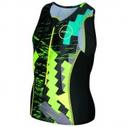zone3 Trajes triatlón Zone3 Adventure Tri Top Black / Green / Yellow