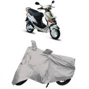 De Autocare Premium Quality Silver Matty Two Wheeler Scooty Body Cover For Hero Electric-e-sprint