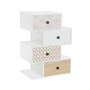 Noptiera/ Masuta laterala cu 4 sertare VICKY