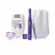 Epilator ,dispozitiv de tundere si pensete, HP6543/00, cu fir