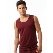N2N Bodywear Basic Gym Muscle Top T Shirt Maroon BG12