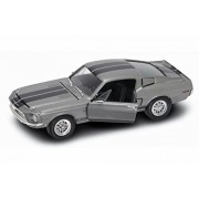 1968 Ford Shelby Mustang GT-500KR, Silver - Yatming 92168 - 1/18 Scale Diecast Model Toy Car