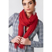 NA-KD Accessories Woven Scarf - Scarves - Red