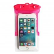 Caso Impermeable Universal Para Iphone 7 6 6s Más Samsung S7 Teléfono Celular Prueba De Agua Bolsa Seca Con Silbato Para Teléfono Inteligente De Hasta 5,8 Pulgadas (rosa Roja)