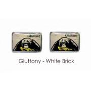Tyler & Tyler Stencilart 7 Deadly Sins White Brick Cufflinks Gluttony
