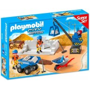 PLAYMOBIL - SUPER SET - SANTIERUL DE CONSTRUCTIE (PM6144)