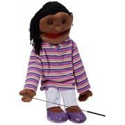 Globee Sunny Toys Marioneta de Cuerpo Completo (28 Pulgadas), diseño étnico en Color Blanco y Morado