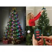 Instalatie de brad cu telecomanda si 64 de lumini cu LED Tree Dazzler