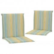 vidaXL Coussins de chaise de jardin 2 pcs Multicolore 100 x 50 x 3 cm