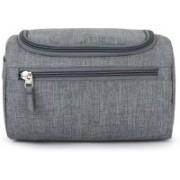 Everyday Desire Hanging Fabric Travel Toiletry Bag Organizer and Dopp Kit Travel Toiletry Kit(Grey)