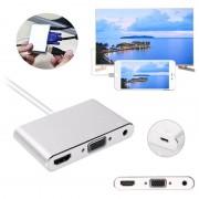 Adaptador Lightning / HDMI, VGA, Áudio, MicroUSB - iPhone, iPad