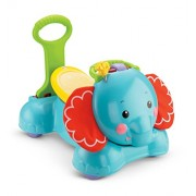 Fisher Price 3-in-1 Bounce, Stride and Ride Elephant, Multi Color