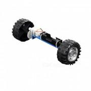 Hecho a mano bricolaje de dos ruedas equilibrio modelo de coche rompecabezas de juguete - negro (1 x AA)