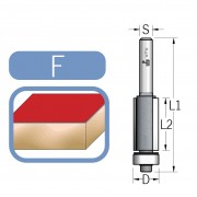 Glodalo za kopiranje sa ležajem na kraju prečnik 19mm, radna dužina 51mm, prihvat 12mm (4 sečiva)