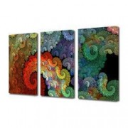 Tablou Canvas Premium Abstract Multicolor Spirale Multicolore Decoratiuni Moderne pentru Casa 3 x 70 x 100 cm