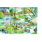 The House of Puzzles All Seasons 500 Piece Puzzle