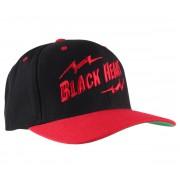 BLACK HEART baseball sapka - Snap Back - Black / Red - BH019