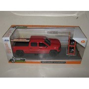 """2014 Chevrolet Silverado Pickup Truck Red """"Just Trucks"""" With Extra Wheels 1/24 By Jada 97227"""