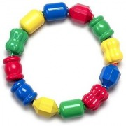 Fisher-Price Snap Lock Bead Shapes 12 Colorful Beads (Multicolor)