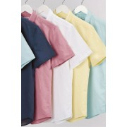 Mens Next Linen Blend Overhead Shirt - Blue